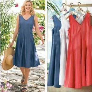 Soft Surroundings  Take A Twirl Tencel Dress